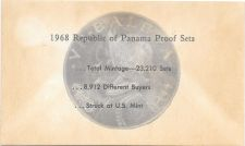 Buy 1968 Panama 6 Coin Single Page C.O.A. Document Set~Free Shipping