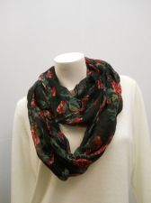 Buy Faded Glory Women's 2Pack Black Floral & Solid Cowl Infinity Scarf All Occasion