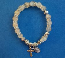 Buy Handmade one of a kind/unique Rosary Bracelet with Translucent Citrine Beads