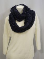 """Buy Charter Club Scarfs 62""""X 8"""" Solid Purple Cowl Infinity Knitted Winter Warm"""