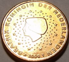 Buy Gem Uncirculated Netherlands 2000 1 Euro Cent~Free Shipping~See Our Unc Coins~