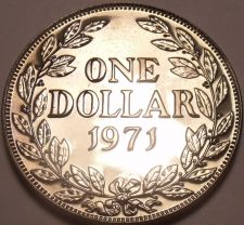 Buy Huge Rare Proof Liberia 1971 Dollar~Only 3,012 Minted~Free Shipping