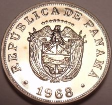Buy Rare Proof Panama 1968 5 Centesimos~Only 23,210 Minted~Excellent~Free Shipping
