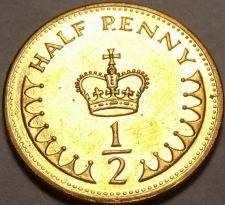 Buy Gem Unc Great Britain 1982 Half Penny~A Royal Crown~1st Year Ever~Free Shipping