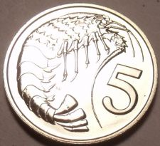 Buy PROOF CAYMAN ISLANDS 1972 5 CENTS~1ST YEAR EVER~PRAWN~FREE SHIPPING~