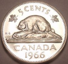 Buy Proof Canada 1966 Beaver Nickel~Proof Coins Are The Mints Best Work~Free Ship