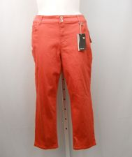 Buy SIZE 18 Womens Capris STYLE&CO Solid Rouge Glow Curvy Fit Mid Rise Inseam 25
