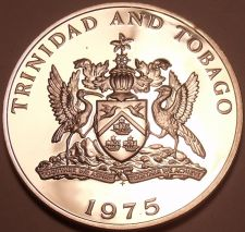 Buy Rare Proof Trinidad & Tobago 1975 10 Cents~24k Minted~Flaming Hibiscus~Free Ship