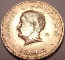 Buy Large Rare Gem Unc Mexico 1944 UNC 5 Centavos~Excellent~Free Shipping