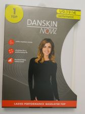 Buy Danskin Now White Performance Baselayer Tagless Brushed Crew Neck Top L 12-14