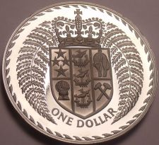 Buy Rare Cameo Proof New Zealand 1975 Dollar~Only 10,000 Minted~Fantastic~Free Ship