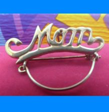 Buy Vintage Sturdy Charm Holder Pendant or Brooch : Gift For Mother - Spells Mom