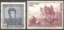 Buy Chile: Centenary of Gen. San Martin's Death (1951), MNH, Complete Set