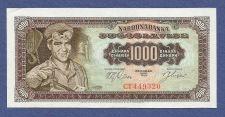Buy YUGOSLAVIA 1000 DINARA 1963 Banknote CT 449320 UNCirculated - Steel Worker