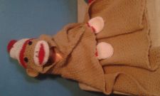 Buy Hug Me Sock Monkey blanket with hat and Mittens Attached