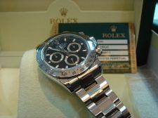 Buy Rolex Daytona Black Dial Men`s Watch 116520BKSO