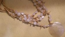 Buy NECKLACE, MULTISTRAND YELLOW BEADED - LIGHT Weight & Comfortable! VERY ORNATE!