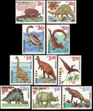 Buy Poland: Dinosaurs (1965), Canceled, complete set
