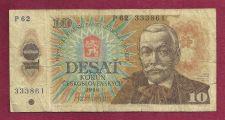 Buy Czechoslovakia 10 Korun 1986 Banknote P 62 333861 (Pavol Orszag-Hviezdoslav)
