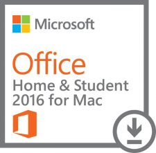 Buy Microsoft Office Home and Student 2016 for Mac -1 Install (Download Delivery)