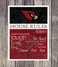 Buy Arizona Cardinals House Rules 4inch x 4.1/2inch Magnet