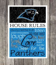 Buy Carolina Panthers House Rules 4inch x 4.1/2inch Magnet.