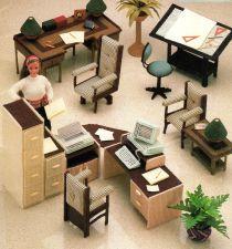 Buy Complete Set Barbie Office Furniture Canvas PDF Pattern Digital Delivery
