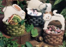 Buy 3 Cute Baby Animal Baskets Canvas PDF Pattern Digital Delivery