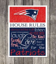 Buy New England Patriots House Rules 4inch x 4.1/2inch Magnet.
