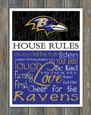 Buy Baltimore Ravens House Rules 4inch x 5inch Magnet.