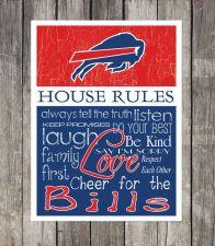 Buy Buffalo Bills House Rules 4inch x 4.1/2inch Magnet.