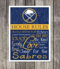 Buy Buffalo Sabres House Rules 4inch x 4.1/2inch Magnet.