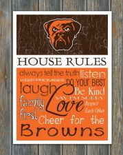 Buy Cleveland Browns House Rules 4inch x 5inch Magnet.