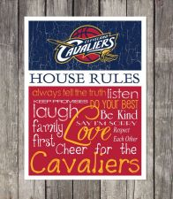 Buy Cleveland Cavaliers House Rules 4inch x 4.1/2inch Magnet.