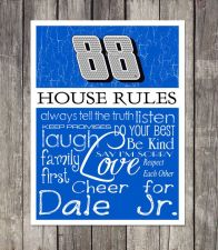Buy Dale Jr. #88 House Rules 4inch x 4.1/2inch Magnet.