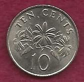 Buy SINGAPORE 10 Cents 1989 Coin - Reeded Rim