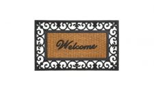 Buy Fleur-De-Lis Framed Welcome Mat