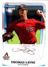 Buy Thomas Layne #BP19 - Diamond Backs 2011 Bowman Auto Baseball Trading Card