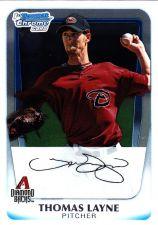 Buy Thomas Layne #BCP19 - Diamond Backs 2011 Chrome Auto Baseball Trading Card