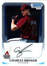 Buy Charles Brewer #BCP12 - Diamond Backs 2011 Chrome Auto Baseball Trading Card