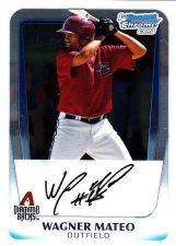 Buy Wagner Mateo #BCP88 - Diamond Backs 2011 Chrome Auto Baseball Trading Card