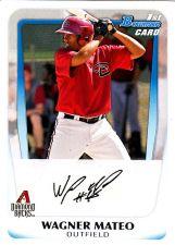 Buy Wagner Mateo #BP88 - Diamond Backs 2011 Bowman Auto Baseball Trading Card