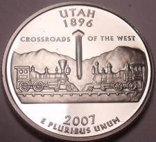 Buy Gem Cameo Proof 2007-S Utah State Quarter~We Have Every State Quarter Minted~F/S