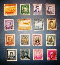 "Buy 1930's to 1950's Chile ""A Vintage Variety Packet"" Stamps"