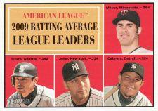 Buy 2010 Topps Heritage #42 AL Batting Average LL Mauer, Ichiro, Jeter, Cabrera