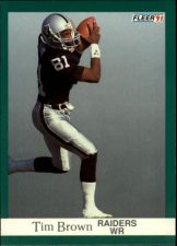 Buy 1991 fleer tim brown #104