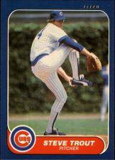 Buy 1986 (CUBS) Fleer #384 Steve Trout