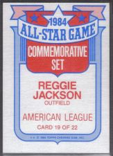 Buy 1984 all star commemorative set reggie jackson #19