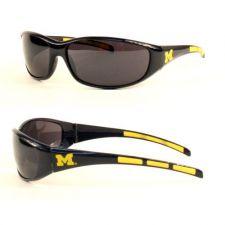 Buy NCAA Michigan Wolverines 3 Dot Sunglasses Team Logo Series Sport Wrap Style