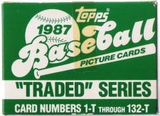 Buy 1987 TOPPS BASEBALL TRADED SET SET IS MINT